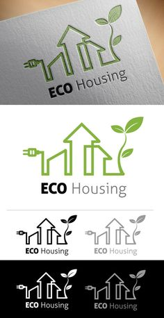 Eco Housing Logo on Behance
