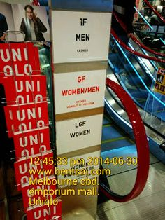 Cool Store Levels Directory in Emporium Mall - Melbourne   Home page | UNIQLO Ideas Melbourne Retail Signs