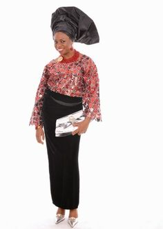 Traditional Wedding Dress-Silver Lace Top with Black Velvet-Wrap-Skirt