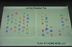 letter/number pop for kids