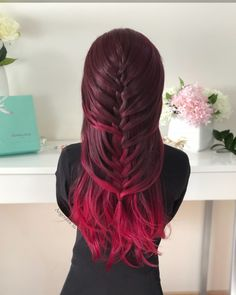 French Braid Hairstyle  I'm falling in love for this color Donalovehair #braided #redhair #hair #hairstyles #haircolor #hairgoals #hairfashion #hairtrend #peinados #tresses #trenzas