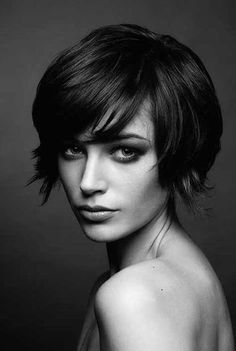 30+ Super Short Haircuts with Bangs   Short Haircuts - 2016 Hair - Hairstyle ideas and Trends