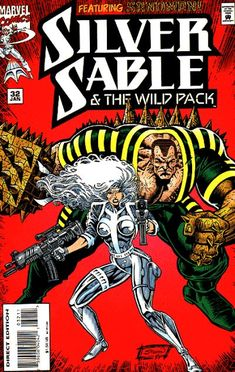 Silver Sable /& The Wild Pack #1 June 1992 Marvel Comics FOIL Embossed Cover