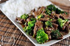 Brocolli met biefstuk en rijst