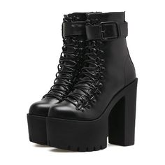 Black Platform Boots, Black Ankle Boots, Platform Shoes, Ankle Booties, Boots With Heels, Boots For Short Women, Boots Women, Womens High Heel Boots, High Boots