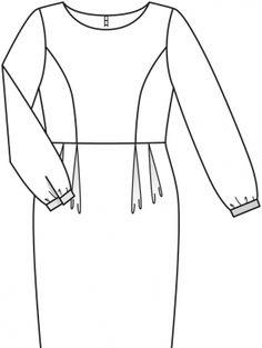 Sukienka: Burda. Moda Pełna 1/2015/404 / Burdastyle
