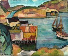 Axel Revold (1887-1962):Fiskevær nordpå, 1917