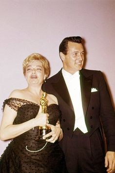 SIMONE SIGNORET (PICTURED WITH ROCK HUDSON), 1960 For Room at the Top