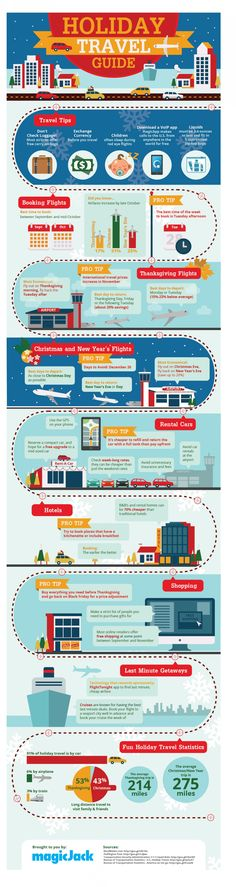 Holiday Travel Guide - Quick Tips for Cheap & Easy Travel [Infographic] Travel Logo, New Travel, Cheap Travel, Business Travel, Travel Style, Travel Tips, Travel Plan, Travel Guides, Christmas Travel