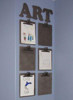 Ecco alcune idee per valorizzare e organizzare l'ingente produzione artistica dei bambini!