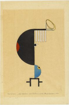 Lothar Schreyer. Colorform 2 (Night) (Farbform 2 [Nacht]) from the portfolio New European Graphics, 1st Portfolio: Masters of the State Bauhaus, Weimar, 1921 (Neue europäische Graphik, 1. Mappe: Meister des Staatlichen Bauhauses in Weimar, 1921). 1921