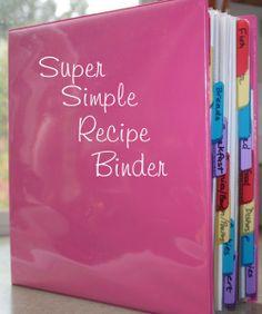 Super Simple Recipe Binder