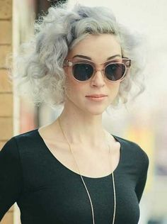 tremendous Edgy Grey Hair Color hairstyle