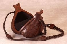 """""""Tlingit,"""" from the signature series of hand-carved functional wood handbags by Kimberly Chalos.  http://www.handcarvedhandbags.com"""