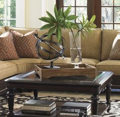 Coffee table - tropical vignette