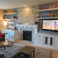 Contemporary Fireplace Design Ideas, Pictures, Remodel, and Decor - page 26