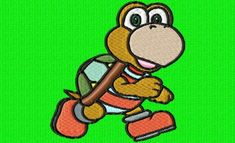 une petite tortue toute en couleurs Yoshi, Zip, Embroidery Patterns, Fictional Characters, Turtle, Colors, Barn, Tutorials, Needlepoint Patterns