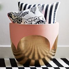blush pink 'pot of gold' hand-painted pot (small) $90.00