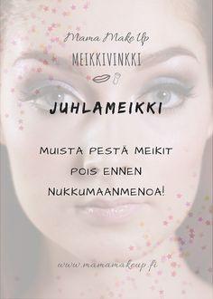 Meikinpuhdistus Make Up, Personal Care, Eyes, Beauty, Self Care, Personal Hygiene, Makeup, Beauty Makeup, Beauty Illustration