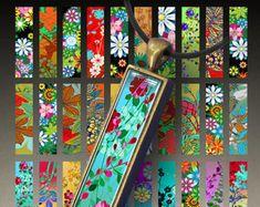 Para imprimir la floreciente jardín 0.5 pulgadas de x3 imágenes de tamaño para las bandejas 12 x 53 mm rectángulo bisel colgante Digital Collage hoja ArtCult gráficos