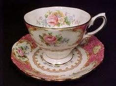 Royal Albert Lady Carlyle pattern Teacup and Saucer Set 18th century