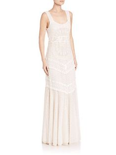 Alice and Olivia - Kimberley Embroidered Tank Dress