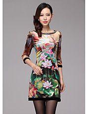 Alta das mulheres Fim Print Dress Lotus com c... – BRL R$ 178,32