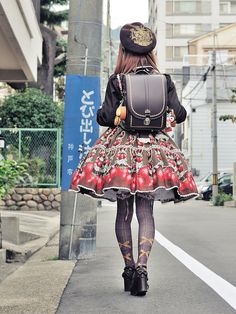 Chocolate Strawberry Lolita with randoseru by sutible on Flickr.