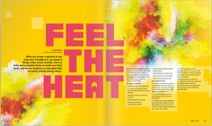 Flipsnack double page layout Magazine Cover Layout, Magazine Layout Design, Magazine Design Inspiration, Layout Inspiration, Brochure Examples, Brochure Design, Juice Magazine, The Heat, Magazin Design