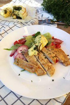 Csirkesaláta grillezet camembertel – VIDEÓVAL!