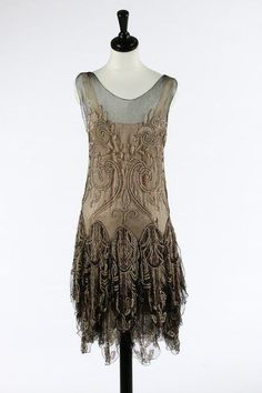 house of worth silvver beaded flapper dresses - Google Search