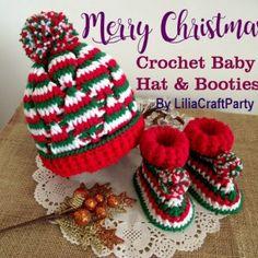 Crochet Baby Blanket Beginner, Crochet Baby Hat Patterns, Crochet Hats, Crochet Ideas, Crochet Clutch Bags, Christmas Baby, Christmas Cakes, Christmas Kitchen, Crochet Christmas
