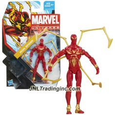 Hasbro Year 2013 Series 5 Marvel Universe Single Pack 4 Inch Tall Action Figure #08 - IRON SPIDER-MAN