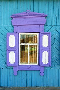 Ventana, Khoujir, la isla de Olkhon, Baikal, patrimonio de la humanidad, Irkutsk Oblast, Siberia, Rusia, Eurasia