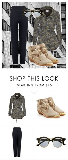"""Style Diary #96: Camo"" by xxfree-soulxx on Polyvore featuring Velvet by Graham & Spencer, Balmain, WearAll and Retrò"