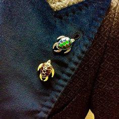 Gunmetal Plated Mechanimal Blue Turtle Pin #Cufflinks, #Pin, #Turtle