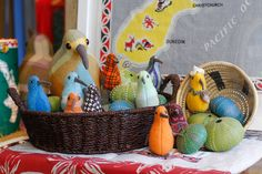 The kiwi in the shop are preparing for Easter. What are you doing this Easter? Kiwi Bird, Craft Stalls, Projects To Try, Basket, Birds, Dolls, Crafts, Inspiration, Home Decor