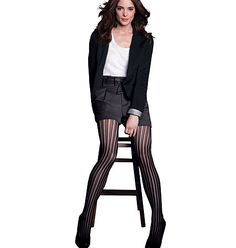 """mark Lace It Up Tights  Get flirty  Our vertical crochet pattern isn't just sassy, it also has a leg-lengthening effect. 95.4% nylon/4.6% spandex. Imported.  small (4'11""""-5'6""""; 100-150 lbs)  medium (5'2""""-6'0""""; 120-170 lbs)  large (5'2""""-6'0""""; 165-200 lbs)  $12"""