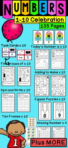 Kindergarten Math Printables UNIT 2 | Pinterest | Counting ...