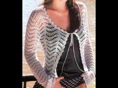Gráficos para tejer saco manga larga a crochet