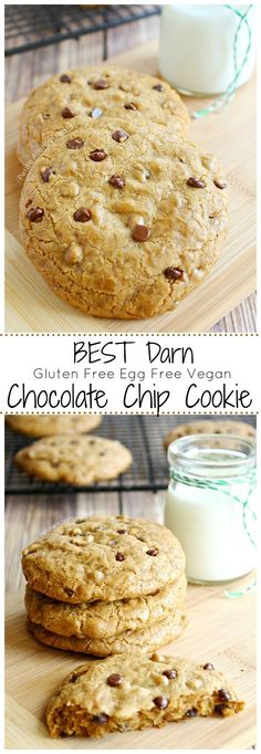 Best Darn Gluten Free Chocolate Chip Cookie (egg free Vegan dairy free) The BEST chocolate chip cookie ever.