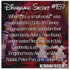 Disneyland secrets- plus Nemo and Dory near Ariel ! Disneyland World, Disneyland Secrets, Disney Secrets, Disney Tips, Disney Memes, Disney Quotes, Disneyland Hacks, Disney Trivia, Vintage Disneyland