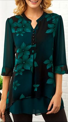 Spring wardrobe basics for ladies,check out our website,you will get fall suprise.Dressing advice that will help you dress better.New arrivals include dresses,blouse,jumpsuits will be added everyday. Cheap Womens Tops, Trendy Tops For Women, Spring Fashion Casual, Spring Outfits, Spring Blouses, Spring Tops, Mode Hijab, Blouse Styles, Cute Tops