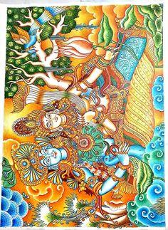 Radha Krishna - Painting by Amit Mishra at touchtalent