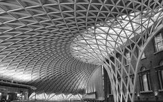 Old And New At Kings Cross In Black And White 2 Print By Mo Barton