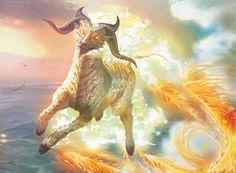 Misthoof Kirin MtG Art from Dragons of Tarkir Set by Ryan Barger Fantasy Concept Art, Fantasy Art, Magic The Gathering Sets, Mystical Animals, Mtg Art, Monster Concept Art, Monster Characters, Dragon Artwork, Art Pages