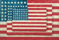 Jasper Johns, Three Flags, 1958. Encaustic on canvas, 30 7/8 × 45 1/2 × 5 in. (78.4 × 115.6 × 12.7 cm). Whitney Museum of American Art, New York; 50th Anniversary Gift of the Gilman Foundation Inc., The Lauder Foundation, A. Alfred Taubman, Laura-Lee Whittier Woods, and purchase  80.32Art © Jasper Johns / Licensed by VAGA, New York, NY
