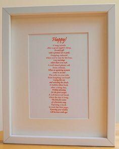 Happy  Framed Poetic Print by ScriptedforYou on Etsy