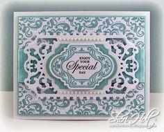 Sheri Holt - Damask Background Stamp
