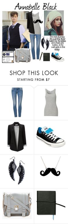 """""""Annabelle Black - Bad Luck Bell"""" by astrid-olsen ❤ liked on Polyvore featuring Sisley, Splendid, Wallis, Converse, Tatty Devine, Proenza Schouler, TOMS, Fountain, oc and fanfiction"""